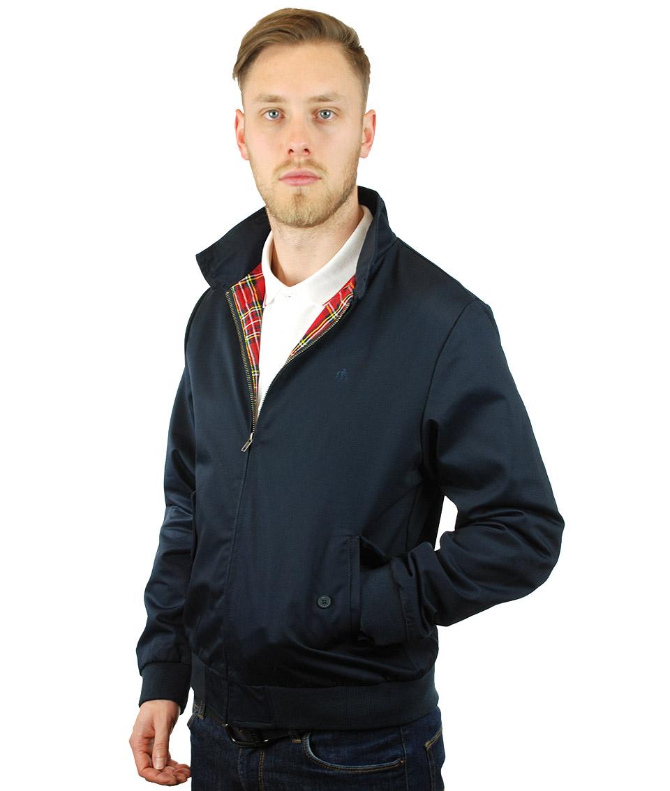 Merc London Navy Harrington Scooter Jacket Modfellas