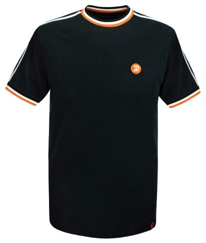 Trojan Records Black Twin Stripe Plain T-Shirt