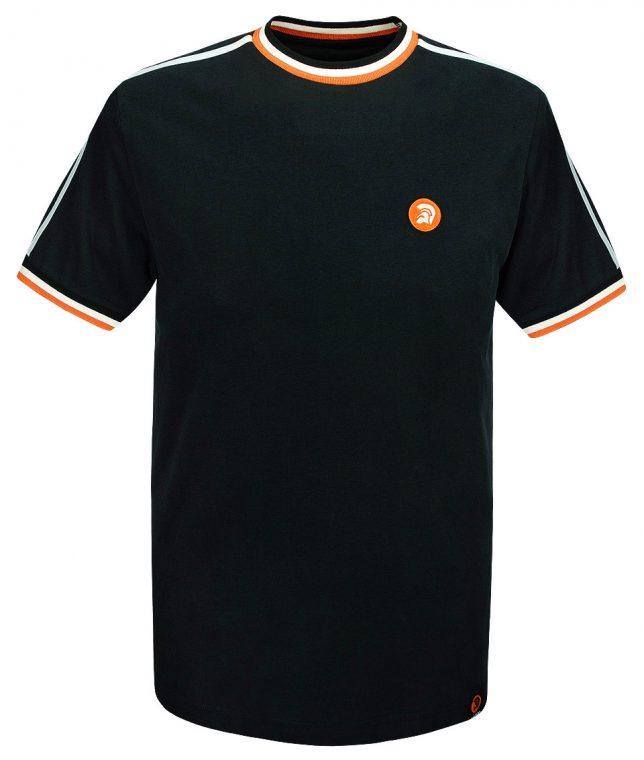 Trojan Records Black Twin Stripe Plain T-Shirt