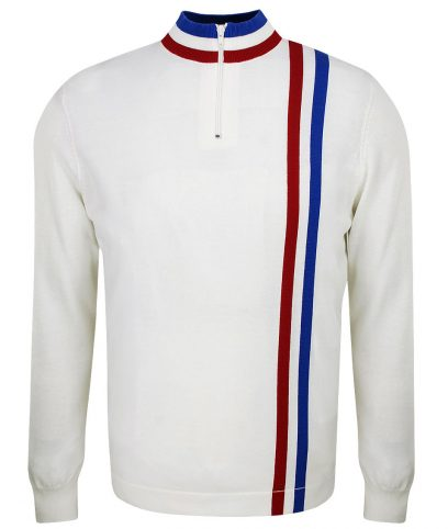 Art Gallery Off White Twin Stripe Cycling Top