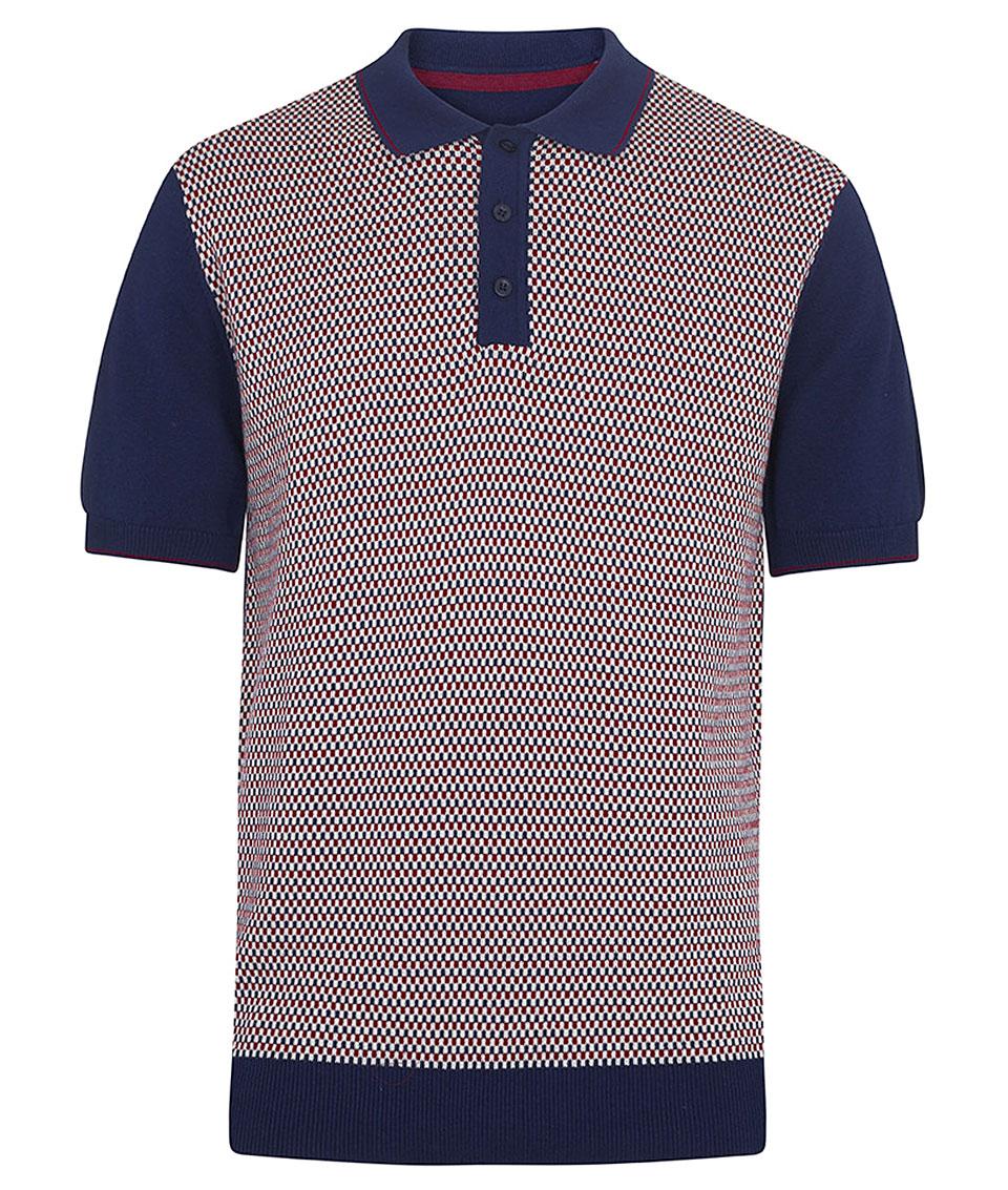 Sale! 🔍. Merc Navy Maple Birdseye Knit Polo T-Shirt 0485a24afd5b