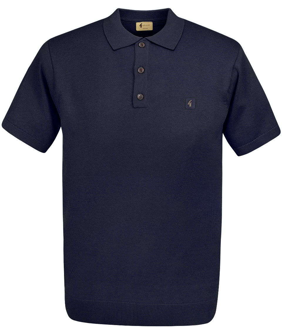 6e2d4fbaa Gabicci Vintage Navy Jackson Knit Polo Shirt - Modfellas Clothing