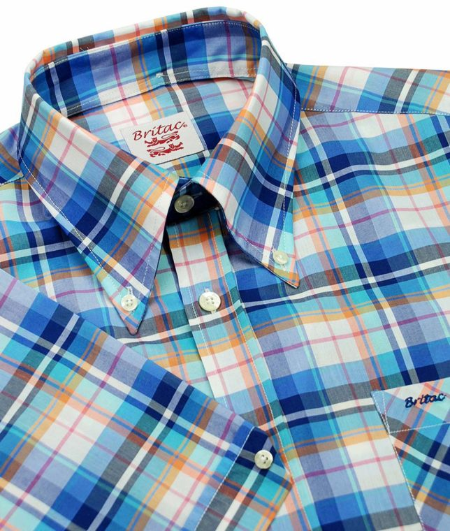 Britac SL426 Blue Check Shirt