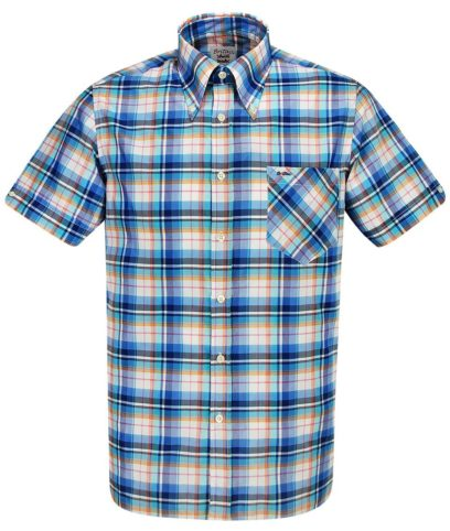 Britac SL426 Blue Check Shirt