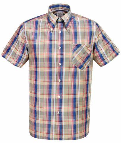 Britac SL428 Green Check Shirt
