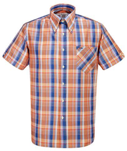 Britac SL430 Orange Check Shirt