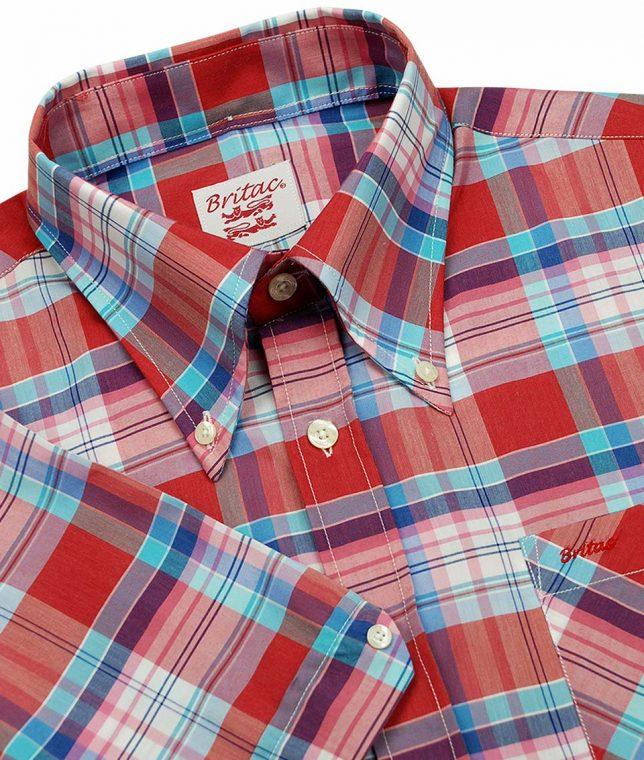 Britac SL432 Red Check Shirt