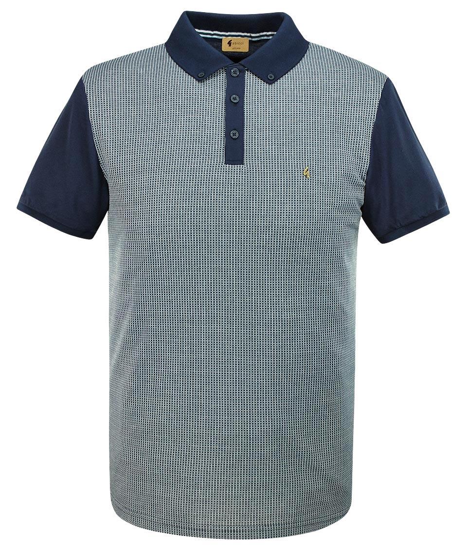 5da52848 Gabicci Vintage Navy Tyne Grid Polo T-Shirt | Modfellas | Mens Mod ...