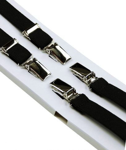 Relco Black Braces Suspenders