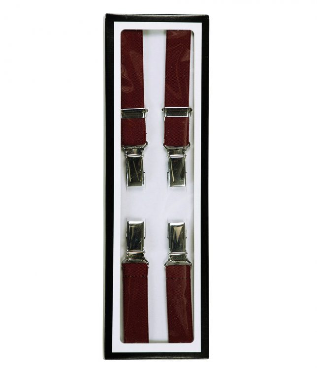 Relco Burgundy Braces Suspenders