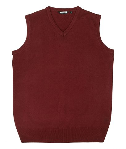 Relco Burgundy Knitted Tank Top