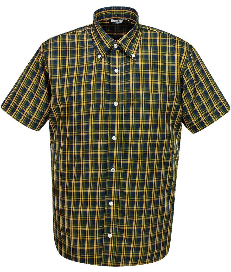 dde252e043e Relco London Navy   Mustard CK 24 Check Shirt