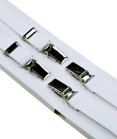 Relco White Braces Suspenders