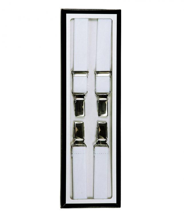 Relco White Braces Suspenders