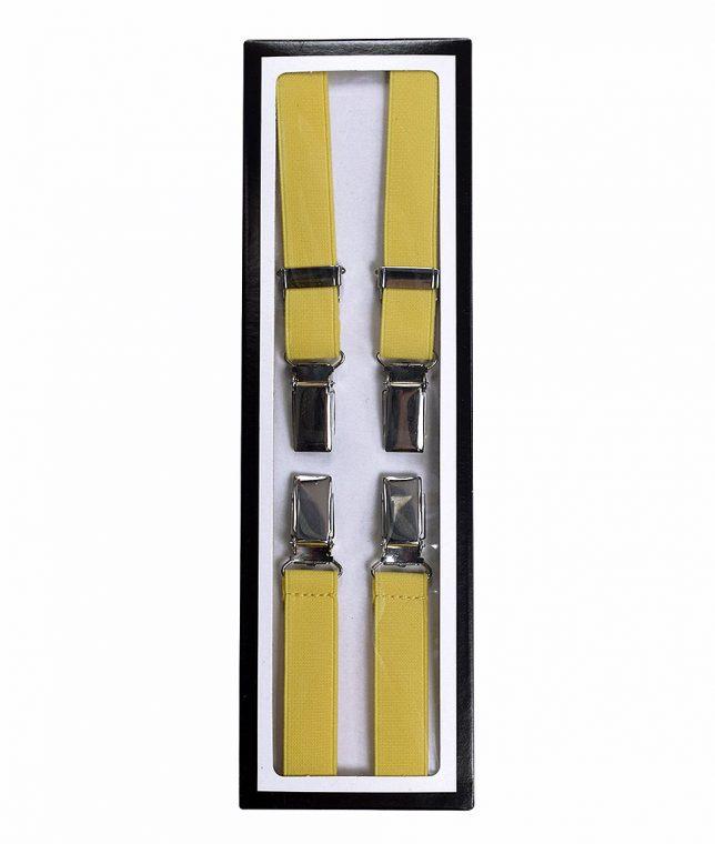 Relco Yellow Braces Suspenders