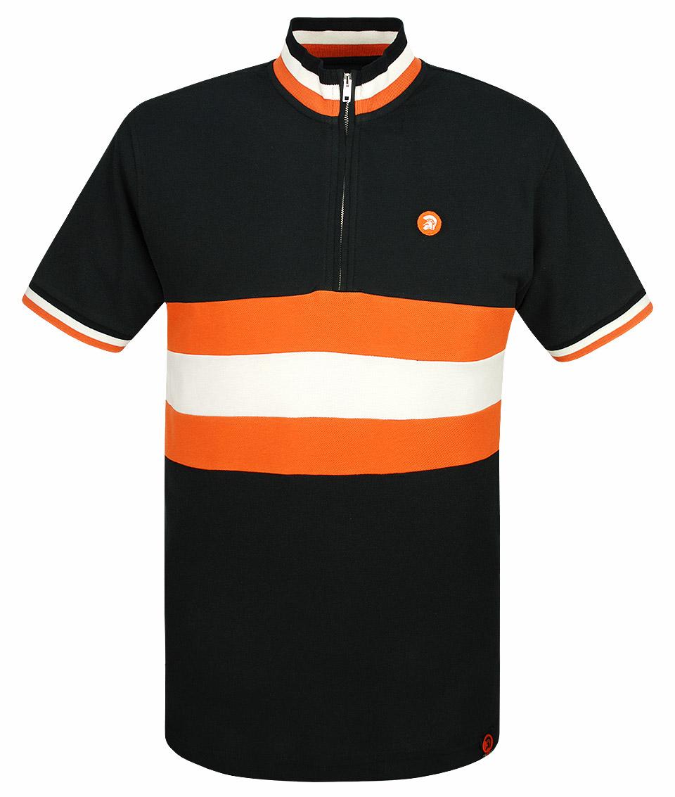 1b29af4099b Trojan Records Black Stripe Front Cycling Top