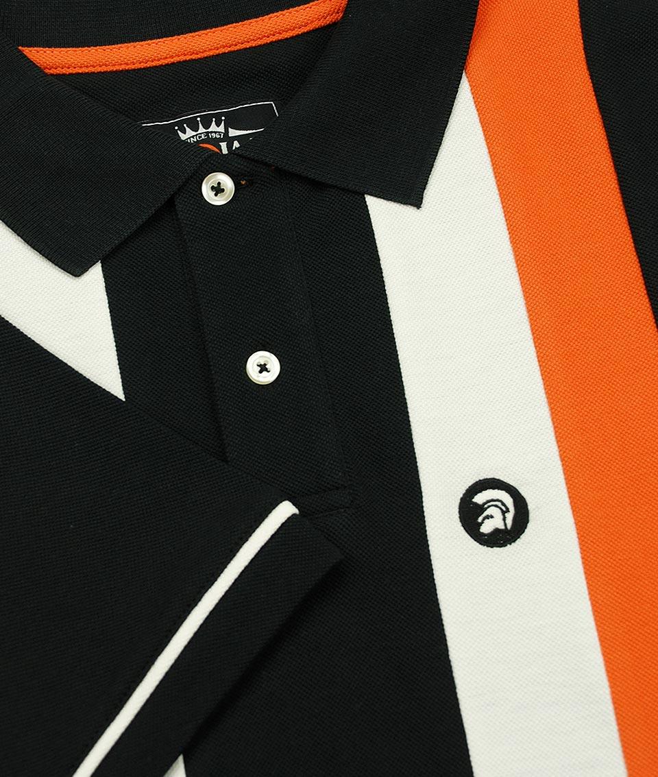 68148ebfc Trojan Records Black Vertical Stripe Polo T-Shirt