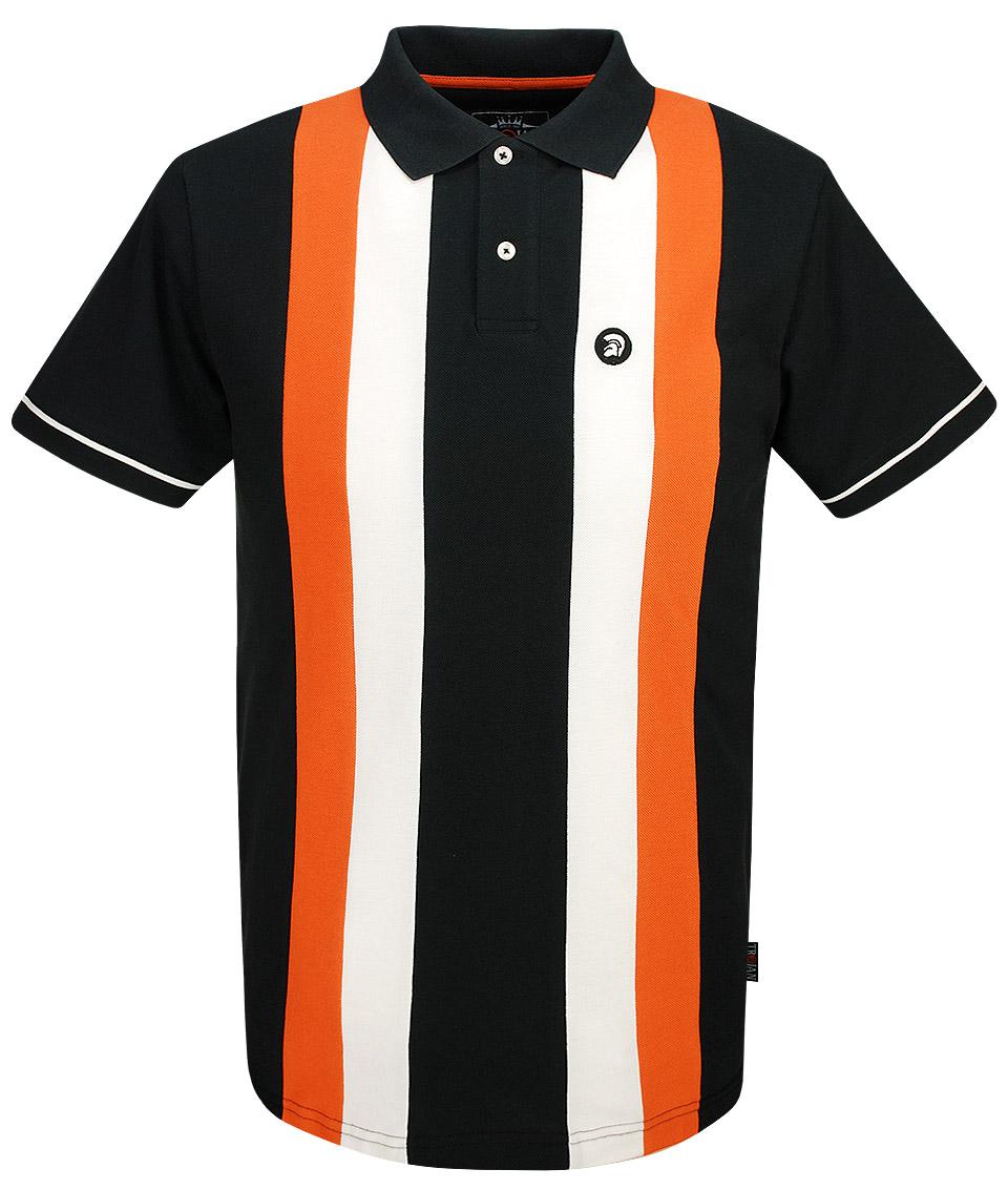 653b39c6d Sale! 🔍. Trojan Records Black Vertical Stripe Polo T-Shirt