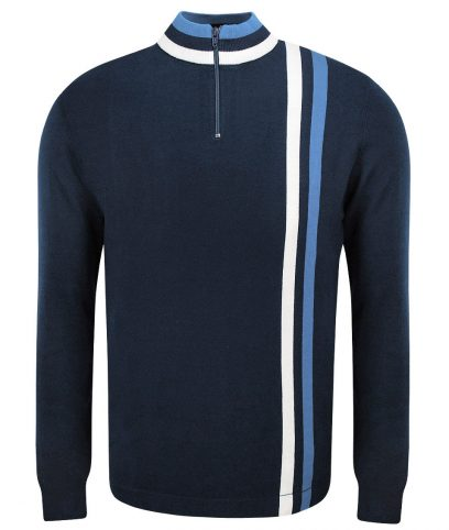 Art Gallery Mid Blue Twin Stripe Cycling Top