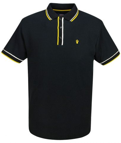 Wigan Casino Black Tipped Waffle Polo T-Shirt