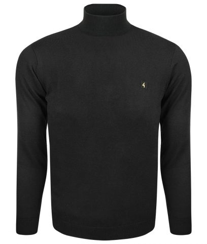 Gabicci Vintage Black Turtleneck Jumper