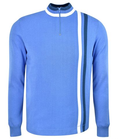 Art Gallery Horizon Blue Twin Stripe Cycling Top