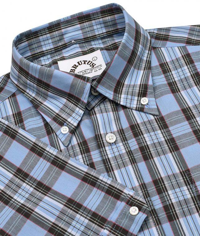 Brutus Classic Blue Tartan Check Shirt