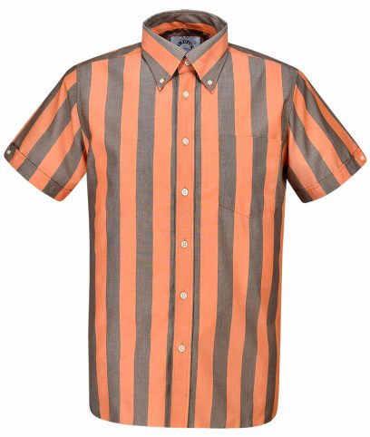Brutus Orange & Cocoa Brown Stripe Shirt