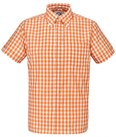 Brutus Orange Large Gingham Shirt