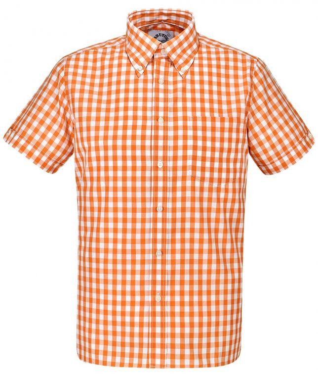 Brutus Orange Large Gingham Shirt