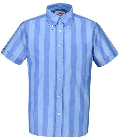 Brutus Silverlake Palace Blue Stripe Shirt