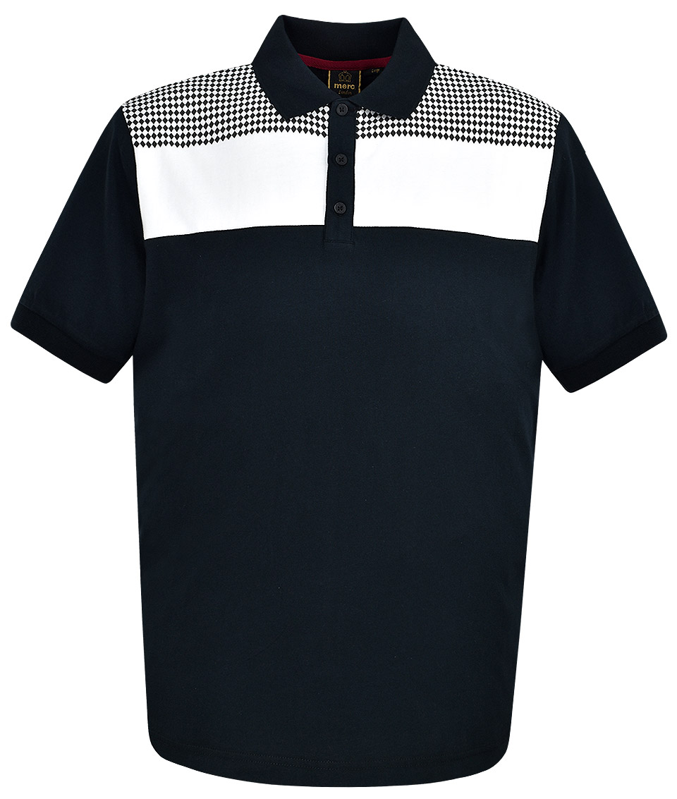 bb0e804eb Merc Black Howard Ska Block Polo Shirt - Modfellas Clothing