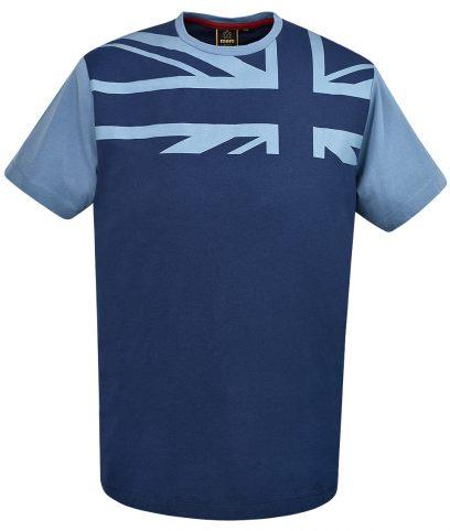 Merc Navy Crest Union Jack T-Shirt