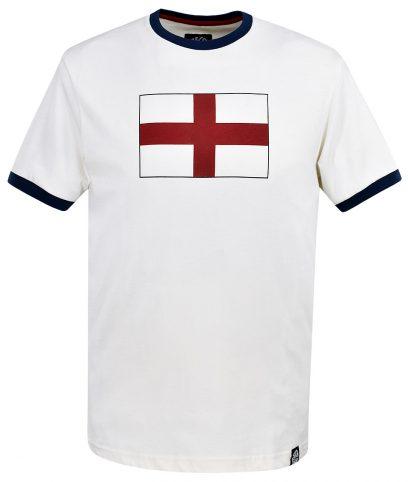 Ska & Soul Ecru St George England Flag T-Shirt