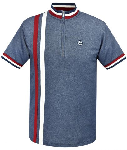 Ska & Soul Navy Twin Stripe Cycling Top
