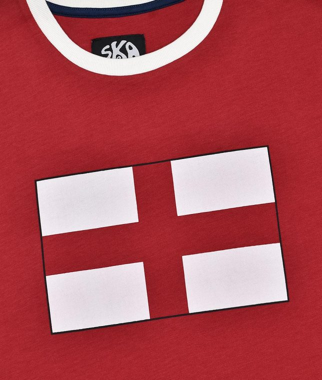 Ska & Soul Red St George England Flag T-Shirt