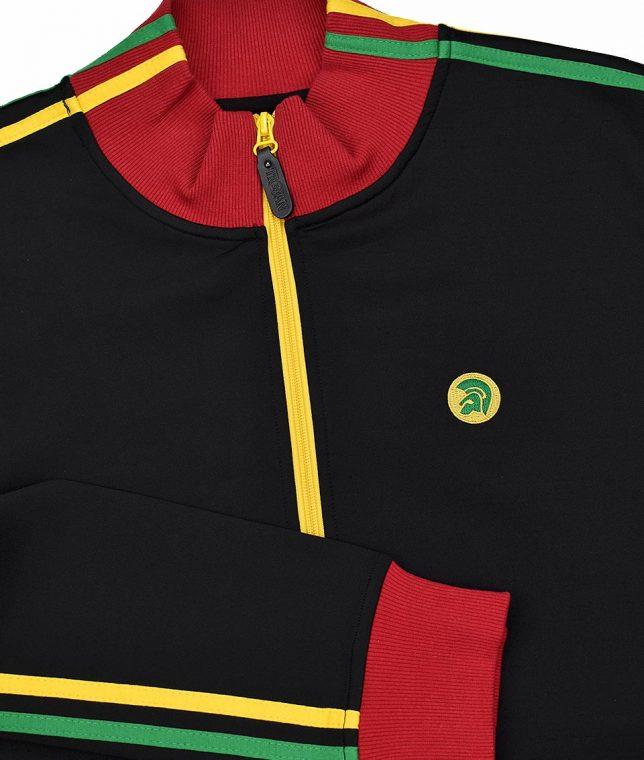 Trojan Records Black Jamaican Twin Stripe Track Top