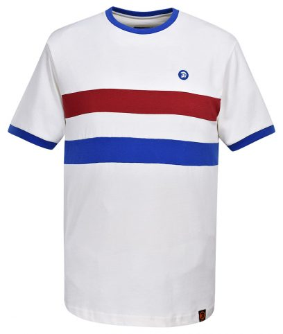 Trojan Records Ecru Stripe Front T-Shirt