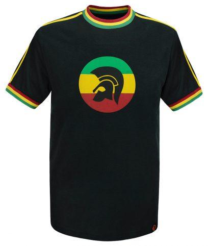 Trojan Records Rasta Twin Stripe Helmet T-Shirt