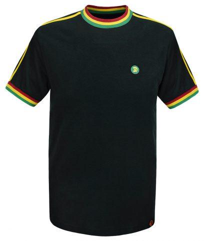 Trojan Records Rasta Twin Stripe Plain T-Shirt