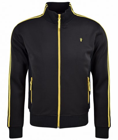 Wigan Casino Black Twin Stripe Track Top