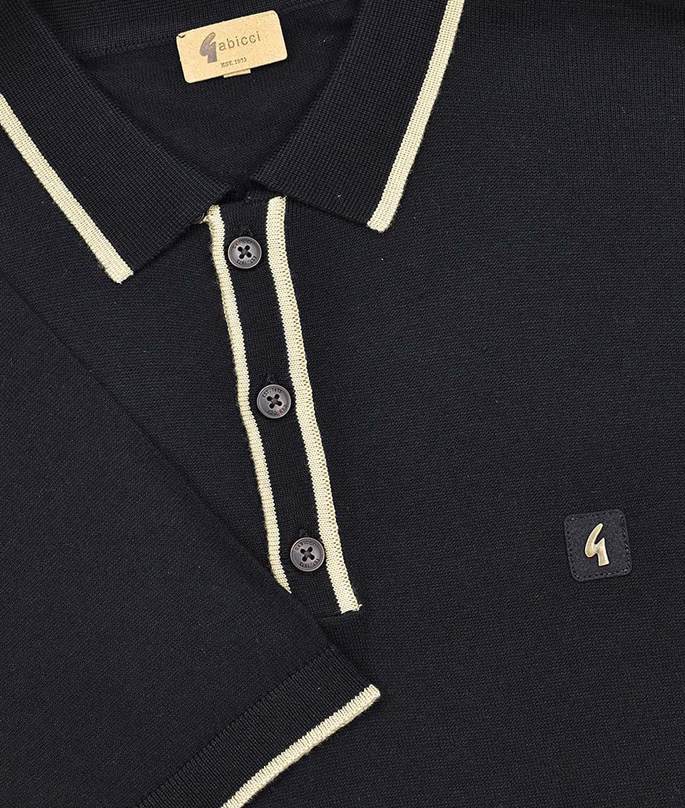 36a0f9857 Gabicci Vintage Black Lineker Polo T-Shirt