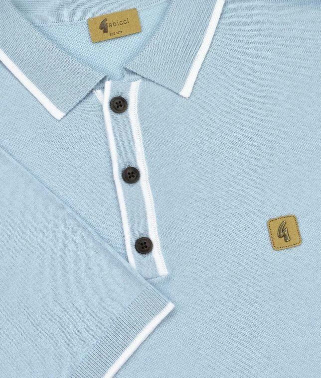 Gabicci Vintage Dawn Tipped Polo Shirt
