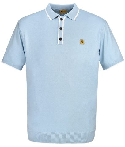 Gabicci Vintage Dawn Tipped Polo T-Shirt