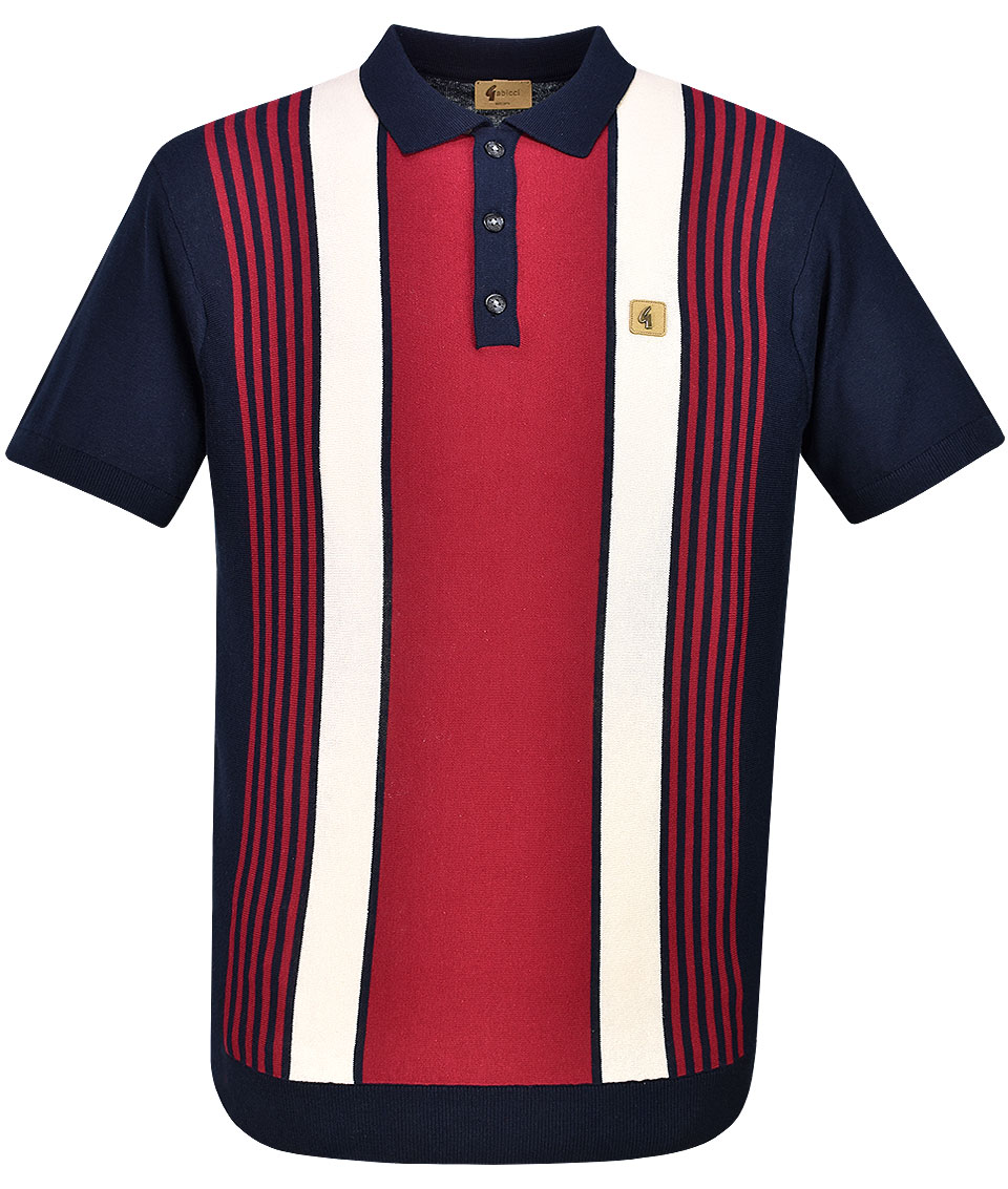 3e5f18c0b262 Gabicci Vintage Navy Searle Stripe Polo T-Shirt | Modfellas | Mens ...