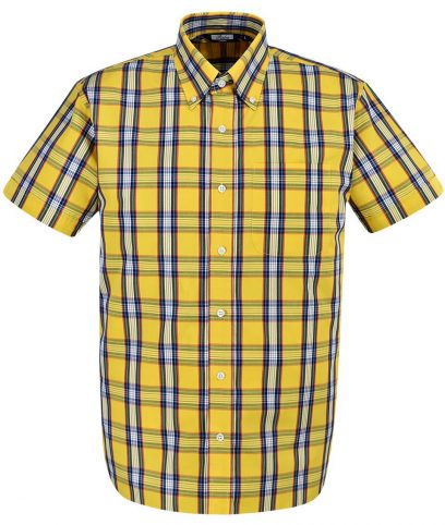Relco Yellow CK28 Check Shirt
