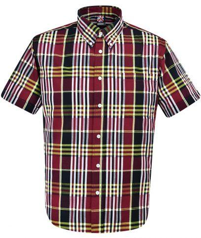 Warrior Burgundy Jimmy Check Shirt