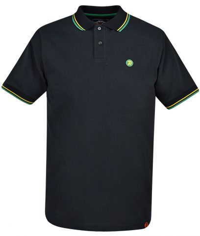 Trojan Records Black Jamaica Tipped Polo T-Shirt