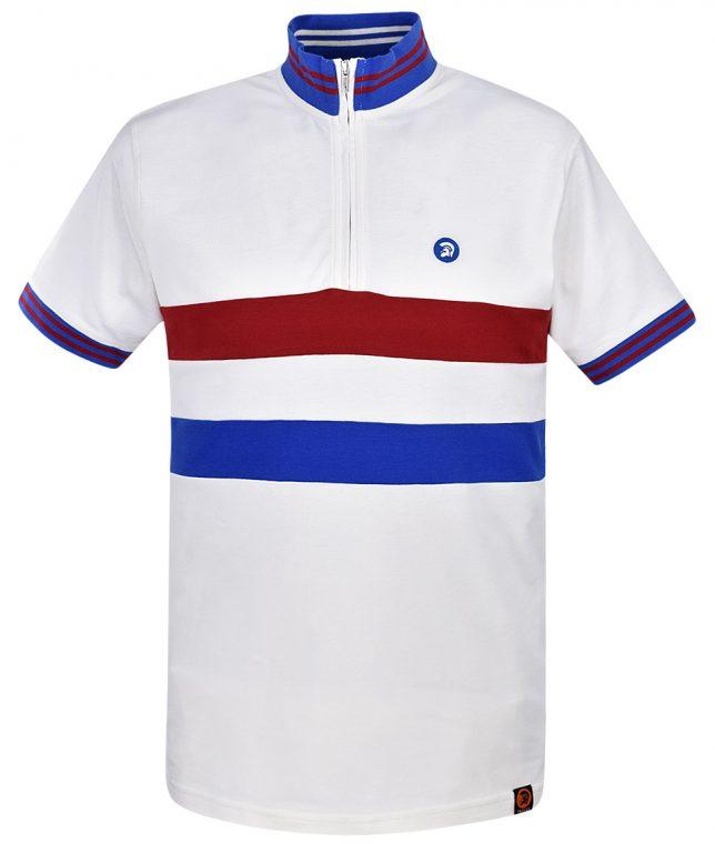 Trojan Records Ecru Stripe Front Cycling Top