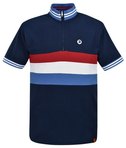 Trojan Records Navy Stripe Front Cycling Top